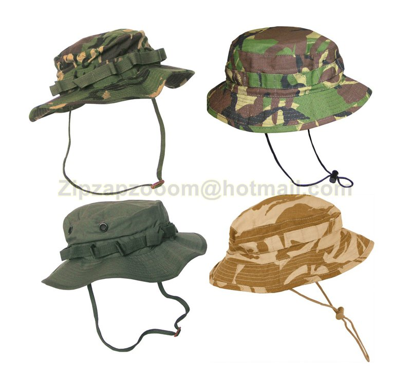 Land Rover Bush Hat Navy: US & British Army Military Jungle Boonie Sun Bush Hat Rip