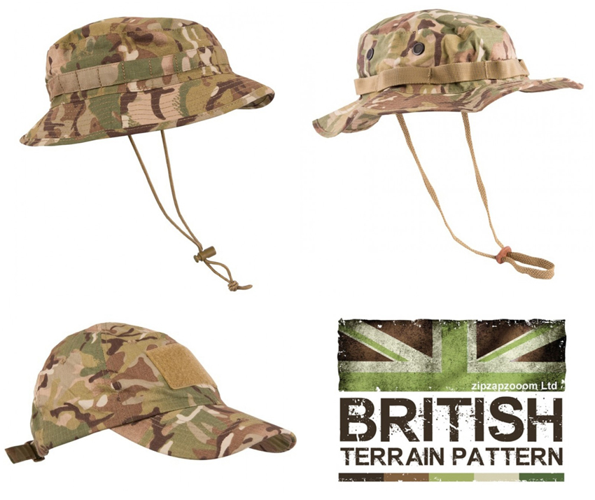 Land Rover Bush Hat Navy: US & British Army Military Jungle Boonie Sun Bush Hat Cap