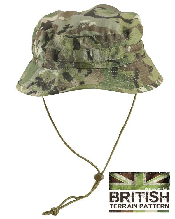 Land Rover Bush Hat Navy: British Army Military Jungle Boonie Sun Bush Hat Cap