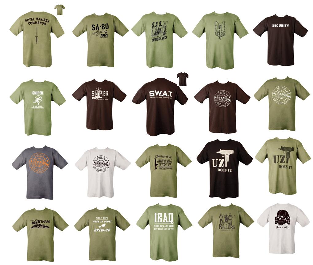 Military Army Combat Printed Taliban T Shirt Security Iraq