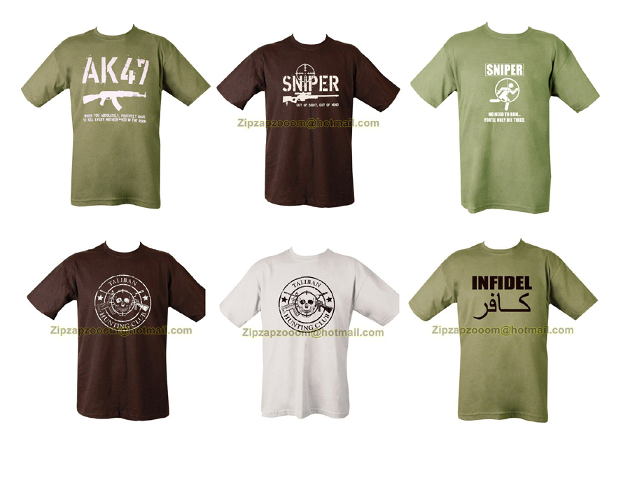 Military Army Combat Printed Taliban Danger Mines Cambodia T-shirt ...