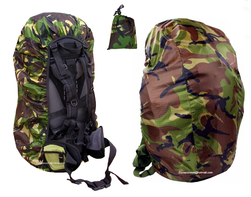 2d3b53b21493 Rucksack Rain Army Camo Waterproof Bag Military Pack Cover Backpack ...