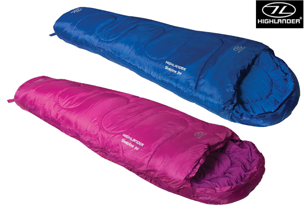 Kids Sleeping Bag Highlander Sleepline Junior 300 Mummy 2 Season Kids Camping