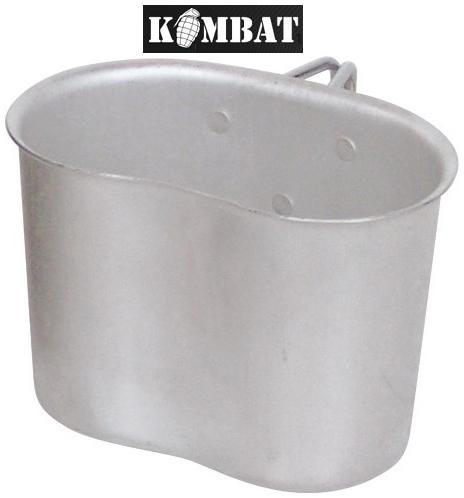 British Army US Combat Military Camping Metal Webbing GI Alloy Tin Mug Cup New