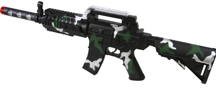 Kombat Kids Toy Electronic Plastic Army Soldiers M16 Play Toy Gun W