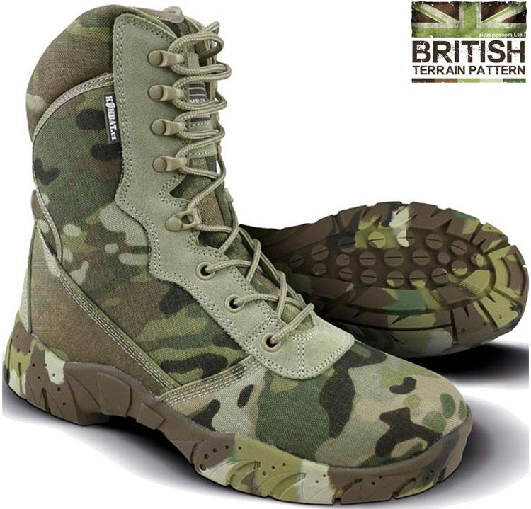 5c6670d59da Details about Mens Combat Military Army Camo Patrol Hiking Cadet Work BTP  Camo Recon Boot 6-12