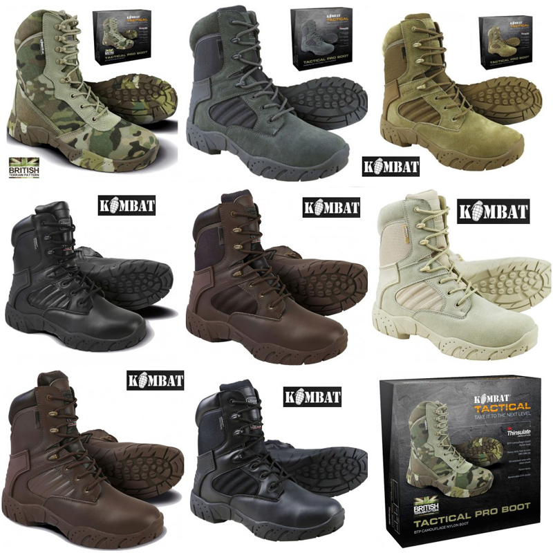 f458365ad27 Details about Mens Army Combat Military Tactical Pro Boot Hiking Brown  Black Desert Camo New
