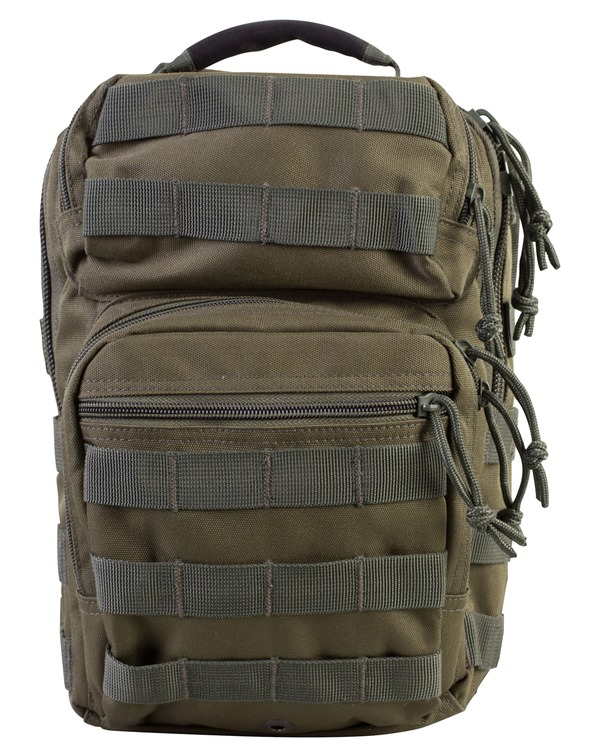 Army Military Day Pack Combat Bag Over Shoulder Travel Rucksack Black  Molle New