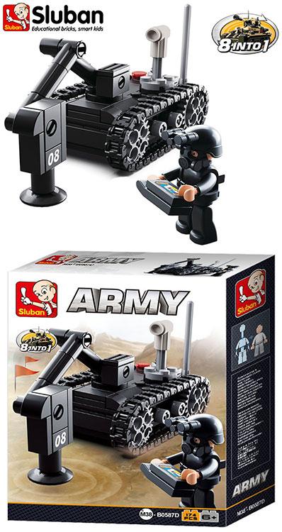 Sluban Building Model Blocks Army Toy Military Artillery Flak Gun Bricks B0587E
