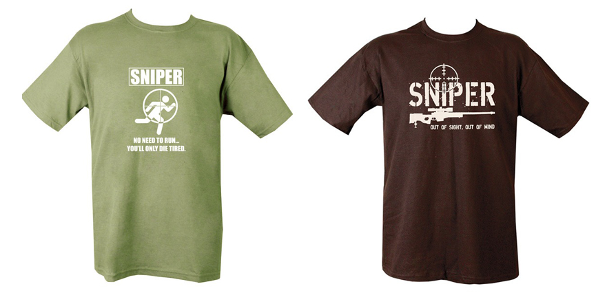 Sniper out of sight out of mind t-shirt