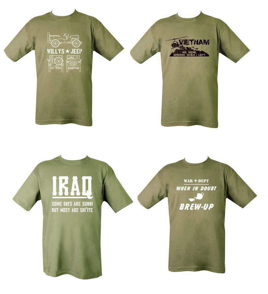 Mens military british army combat t shirt vietnam iraq for Army design shirts online