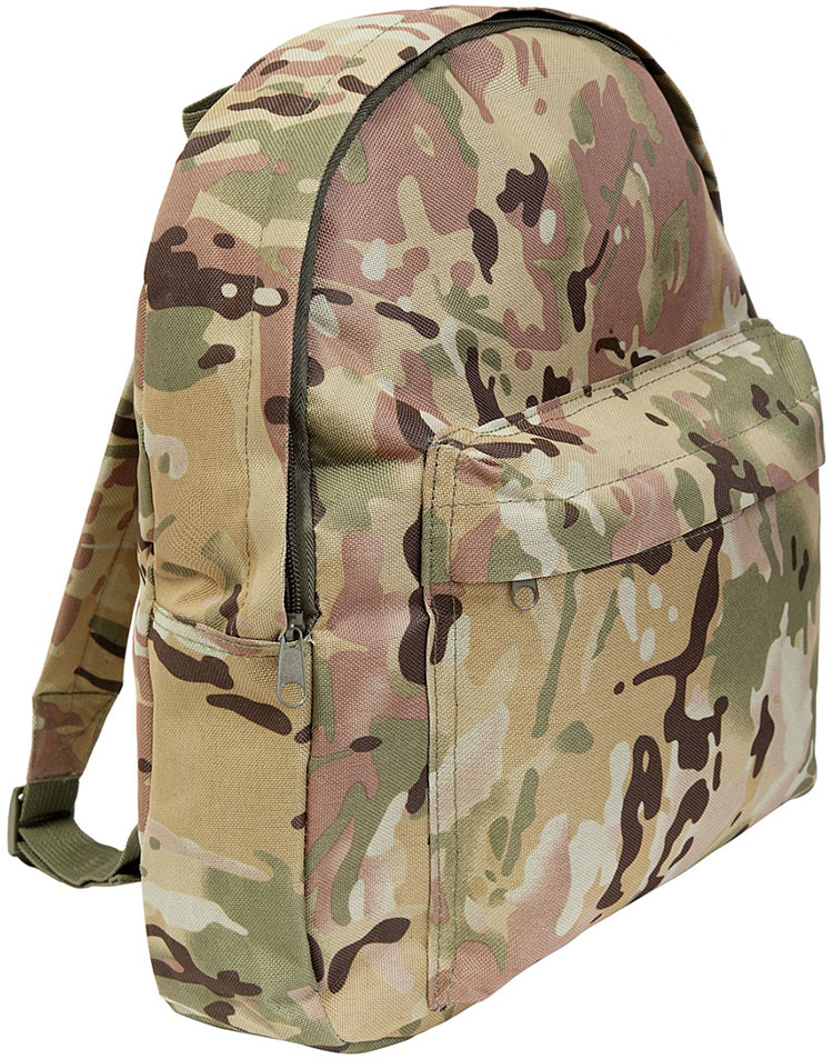Boys Kids Army Multi Camo Patrol Back Pack Backpack School Bag Rucksack 15L Set