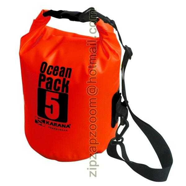68861eacc88 Ocean Dry Pack Waterproof Kayak Shoulder Money Red Travel Bag 5L 5 ...