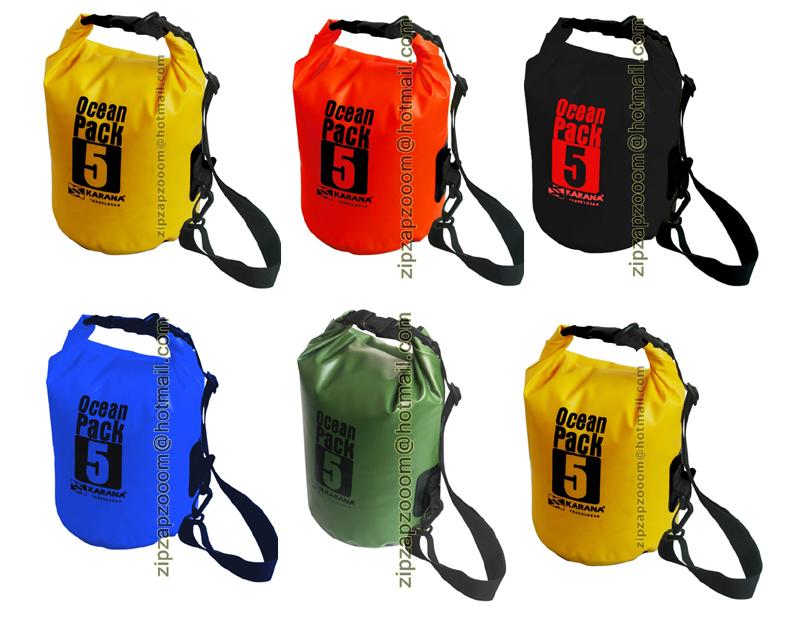 Details about Karana 5 Litre Ocean Dry Pack Waterproof Kayak Shoulder Rucksack Travel Bag 5L